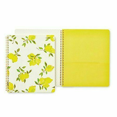 Kate Spade Large Spiral Notebook Lemon Bright Yellow 173133 for sale online | eBay