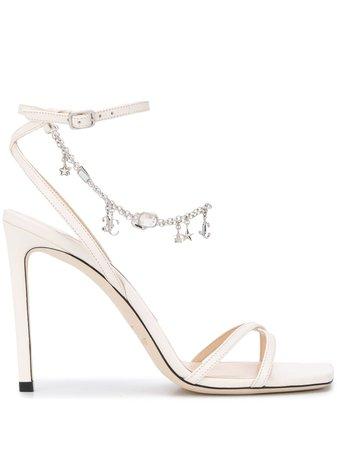 Jimmy Choo Metz 100mm charm-embellished Sandals - Farfetch