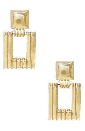 Ettika Textured Square Earrings | Nordstrom