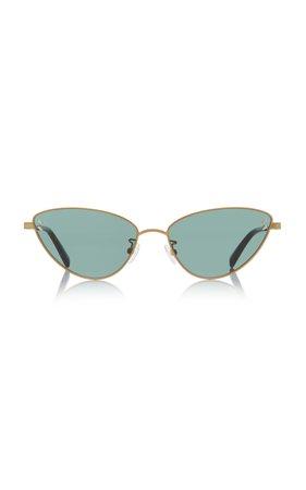 Stella McCartney Sunglasses Cat-Eye Gold-Tone Sunglasses