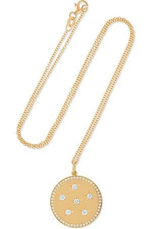 Andrea Fohrman | New/ Full Moon 18-karat gold diamond necklace | NET-A-PORTER.COM