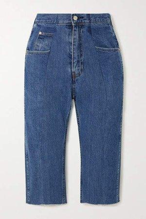 E.L.V. Denim - The Twin Denim Shorts - Mid denim
