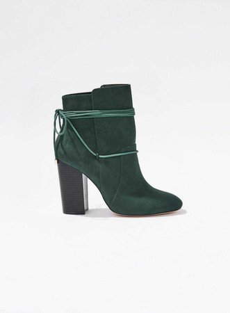 Green ARIAL Ankle Wrap Boots - View All - Shoes - Miss Selfridge