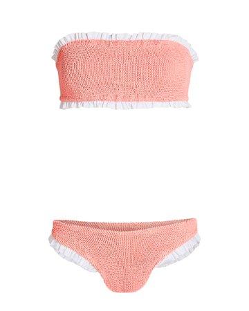 Hunza G Ines Bandeau Bikini Set | INTERMIX®
