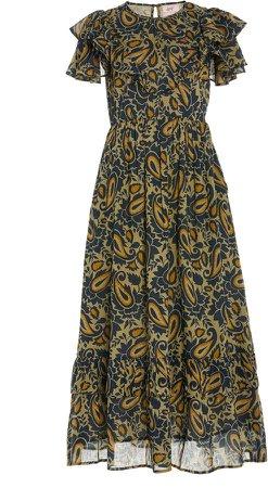 Banjanan Bohemia Paisley-Print Cotton Dress