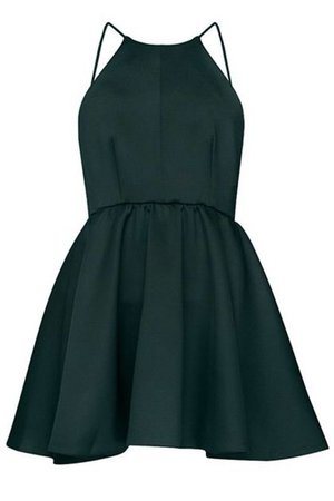 green formal short dress