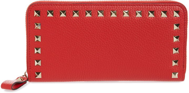 Rockstud Continental Leather Wallet
