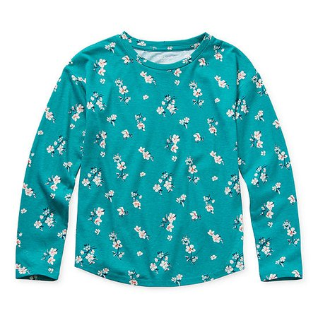 Arizona Girls Round Neck Long Sleeve Graphic T-Shirt - JCPenney