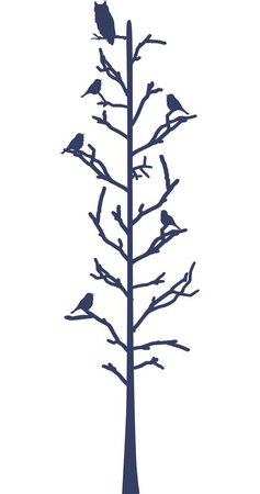 Alphabet Garden Designs Stick Tree with Birds Wall Decal | Wayfair
