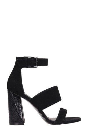 Kendall + Kylie Black Suede Jayne3b Sandals