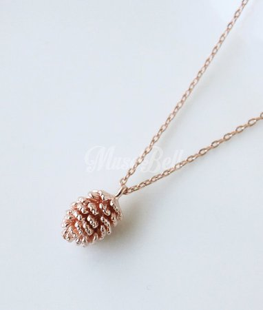 Cute pine cone necklace