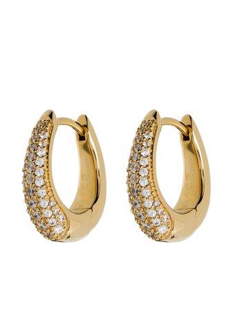 Tom Wood crystal pavé hoop earrings - FARFETCH