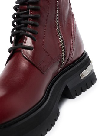 Ann Demeulemeester lace-up Leather Ankle Boots - Farfetch