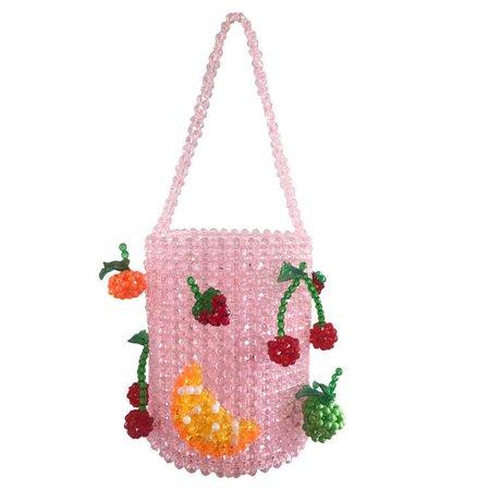Crystal Acrylic Hand woven Pearl Beading Bag Handmade Women Tote Handbag Colorful Beading Pochette Daily Party Purse Girls Bag - AliExpress