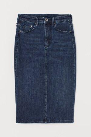 Shaping Denim Pencil Skirt - Blue