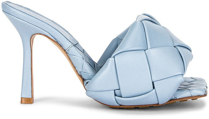 Lido Leather Woven Sandals in Ice | FWRD