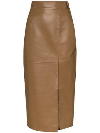 Matériel Faux Leather Pencil Skirt Aw20 | Farfetch.Com