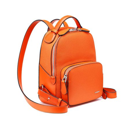 leather orange backpack - Google Search