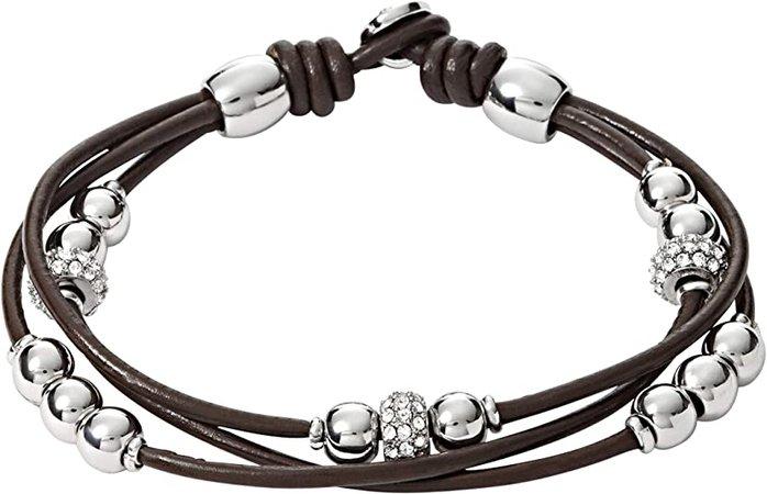 Fossil Rondel Wrist Wrap Bracelet: Apparel Accessories: Jewelry