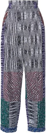 Missoni High-Waisted Cady Straight-Leg Pants