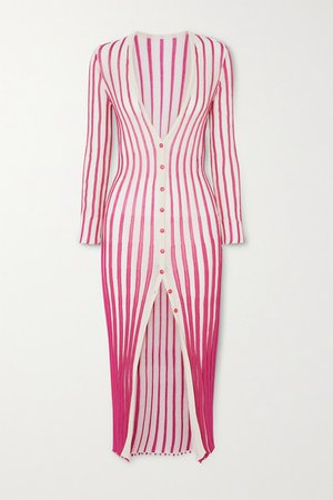 Jacquemus | Jacques striped cotton-blend midi dress | NET-A-PORTER.COM