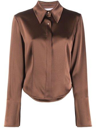 Nanushka, Long-Sleeve Silk Shirt