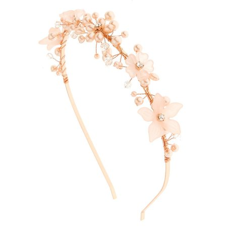 Pink Pearl Flower Headband | Icing US