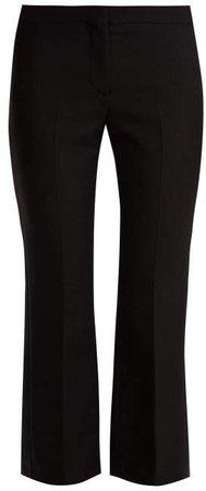 Kickback Wool Blend Tuxedo Trousers - Womens - Black