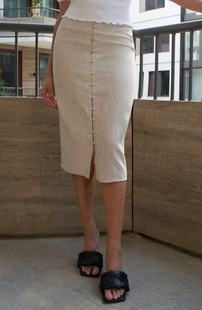 Fredo Front Button Skirt