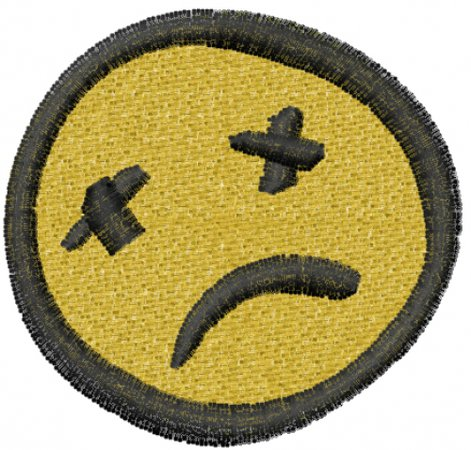 Frowny face patch