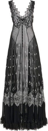 Paco Rabanne Embroidered Tulle Skirt