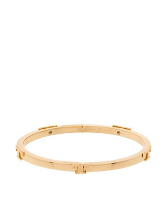 Shop Tory Burch Serif-T stackable bracelet with Express Delivery - FARFETCH