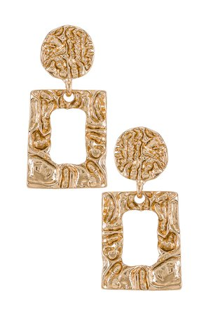 Amber Sceats Square Drop Earrings in Gold | REVOLVE