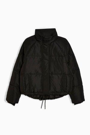 Black Short Black Padded Puffer Jacket | Topshop