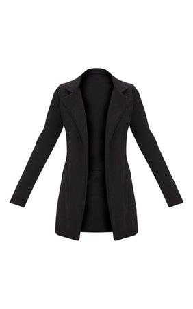 Black Longline Blazer | Coats & Jackets | PrettyLittleThing USA
