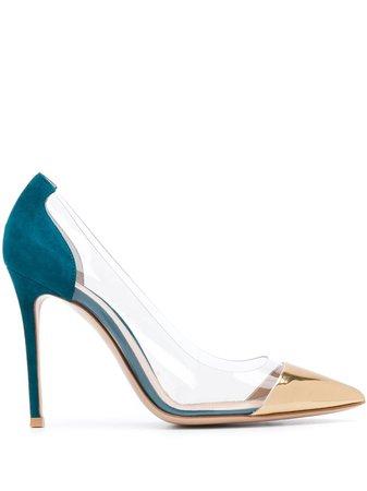 Gianvito Rossi Zapatos De Tacón Con Puntera Metalizada - Farfetch