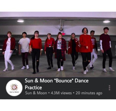 """Sun & Moon """"Bounce"""" Dance Practice"""