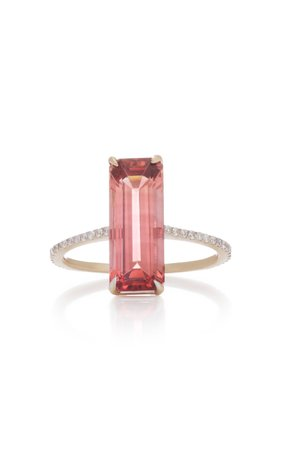 Yi Collection 18K Gold Tourmaline and Diamond Deco Ring