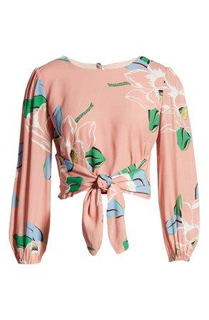 CAPULET Anais Floral Tie Front Top