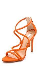 (96) Pinterest - lovely orange strappy heels | Orange