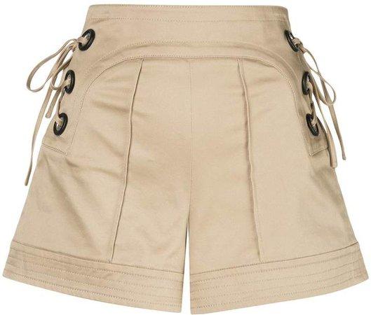 Winnick tie-fastening shorts