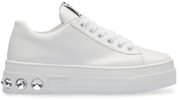 Patent Low-Top Sneakers