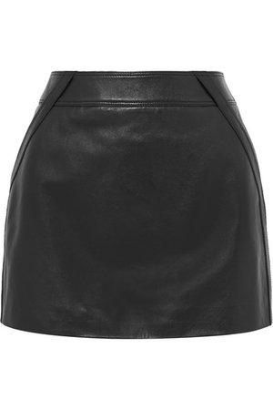 Saint Laurent   Leather mini skirt   NET-A-PORTER.COM