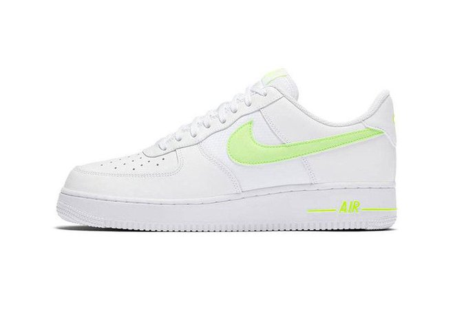 air force 1 green swoosh