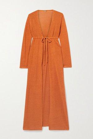 Nina Linen-blend Cardigan - Orange