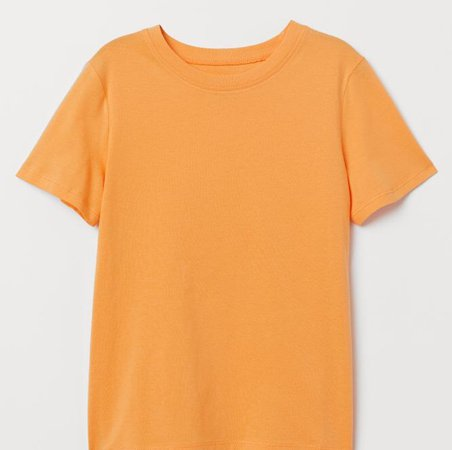 light orange tee shirt