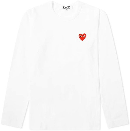 Comme des Garcons Women's Long Sleeve Basic Logo Tee