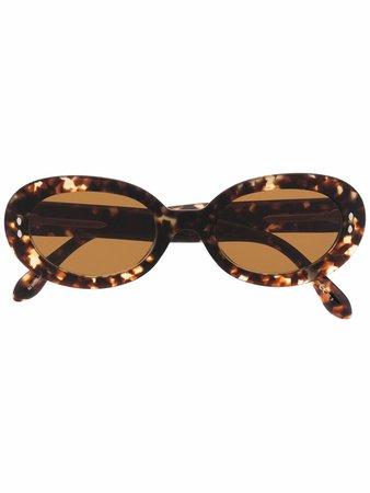 Isabel Marant Eyewear Tortoiseshell round-frame Sunglasses - Farfetch