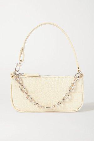 BY FARRachel mini chain-embellished leopard-print suede shoulder bag