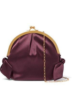Nanushka | Oana knotted satin shoulder bag | NET-A-PORTER.COM